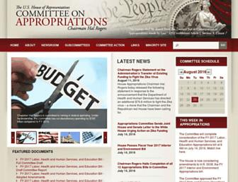 Main page screenshot of appropriations.house.gov