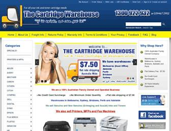 thecartridgewarehouse.com.au screenshot