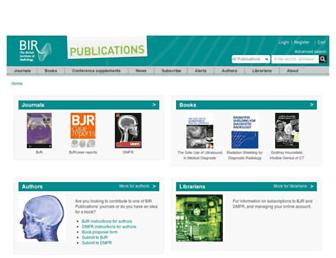 Main page screenshot of bjr.birjournals.org