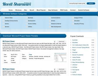 microsoft-project-viewer-portable.windows.novellshareware.com screenshot