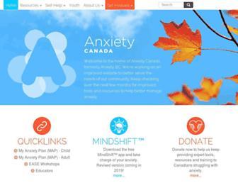 anxietycanada.com screenshot