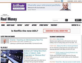 realmoney.thestreet.com screenshot