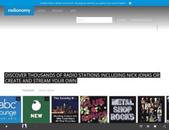 radionomy.com screenshot