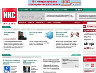 Main page screenshot of iks-media.ru