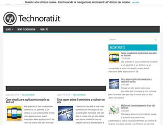 Main page screenshot of technorati.it