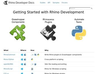 developer.rhino3d.com screenshot