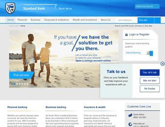 Main page screenshot of standardbank.co.za