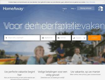Main page screenshot of homeaway.nl