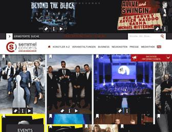 Main page screenshot of semmel.de