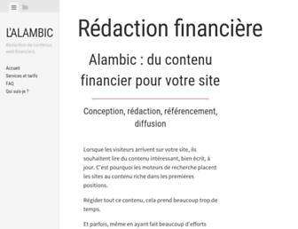 Main page screenshot of oblig.fr