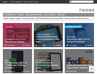 Main page screenshot of internetworld.de