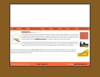 Main page screenshot of prime.com.pk