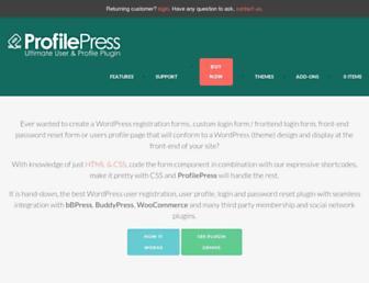 profilepress.net screenshot