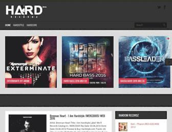 hardrecordz.com screenshot