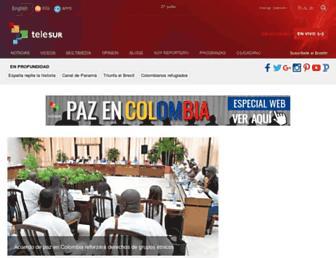 Main page screenshot of telesurtv.net