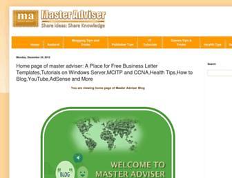 masteradviser.blogspot.com screenshot