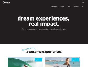omaze.com screenshot
