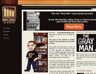 bookseriesinorder.com screenshot
