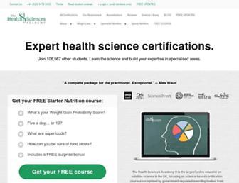 thehealthsciencesacademy.org screenshot