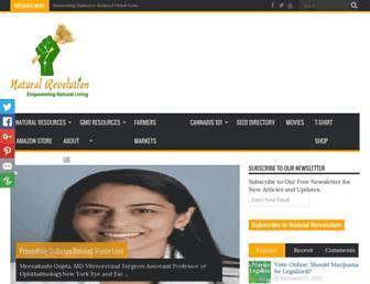 Main page screenshot of naturalrevolution.org