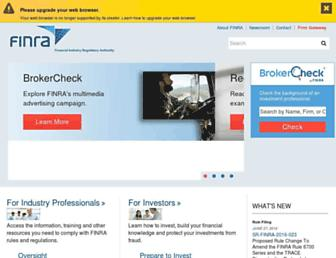 finra.org screenshot