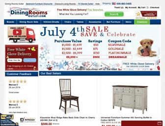 diningroomsoutlet.com screenshot
