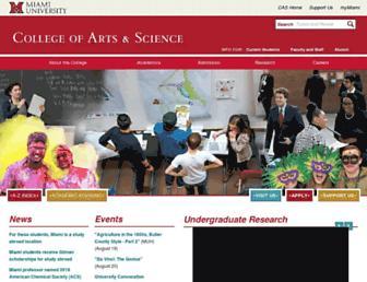 cas.miamioh.edu screenshot