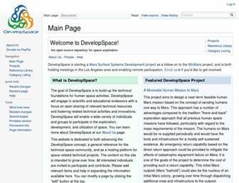 wiki.developspace.net screenshot