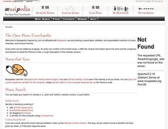 Main page screenshot of musipedia.org