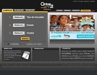 Main page screenshot of century21.com.ve
