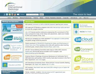 Main page screenshot of sirweb.org