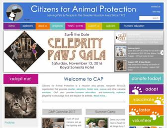 cap4pets.org screenshot