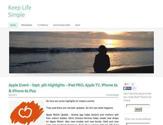 keeplifesimple.weebly.com screenshot