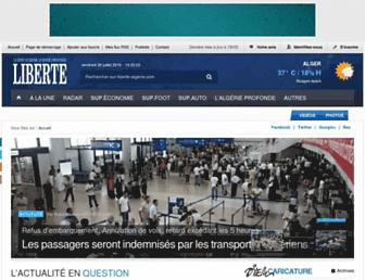 liberte-algerie.com screenshot