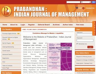 indianjournalofmanagement.com screenshot