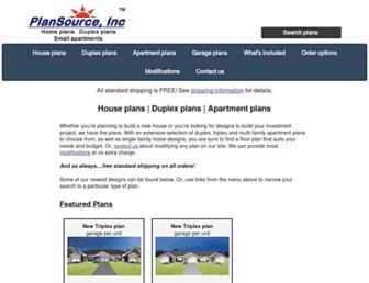 plansourceinc.com screenshot