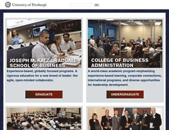business.pitt.edu screenshot