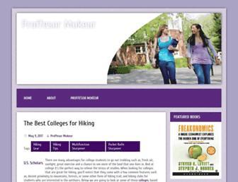 Main page screenshot of profmokeur.ca
