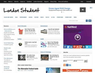 londonstudent.co.uk screenshot