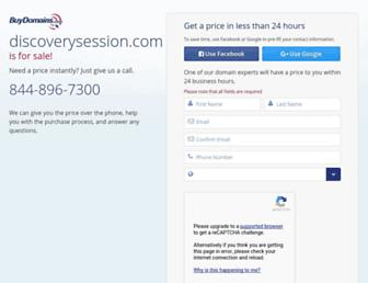 Main page screenshot of discoverysession.ca
