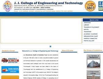 jjcet.ac.in screenshot