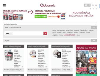 Main page screenshot of abonesana.diena.lv