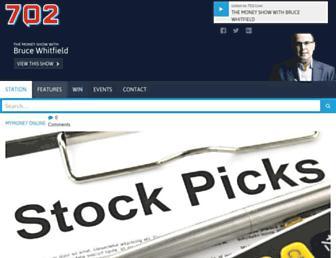 Main page screenshot of 702.co.za