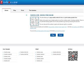 1sudoku.com screenshot