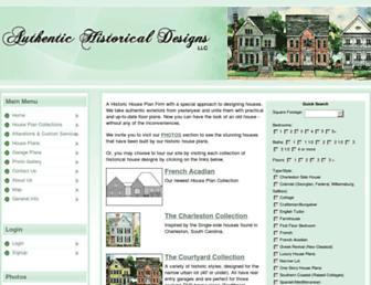 historicaldesigns.com screenshot