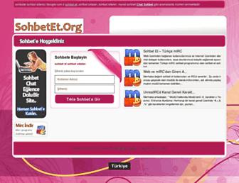 Main page screenshot of sohbetet.org