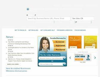 Main page screenshot of la.bbb.org