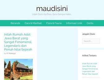 maudisini.com screenshot