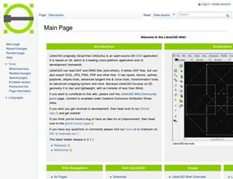 wiki.librecad.org screenshot