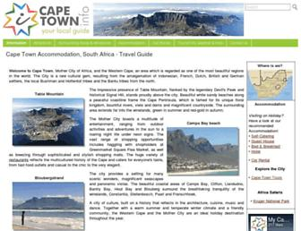 Main page screenshot of cape-town.info